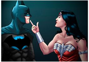 Batman and Wonderwoman_Couple. by Troianocomics