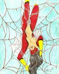 Spider Woman Snared by Blanca-Cardenas