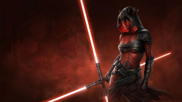 Sister of Darth Maul (wallpaper size) by danyiart