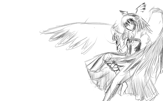 Quick sketch, Okuu by Hydraulicpen