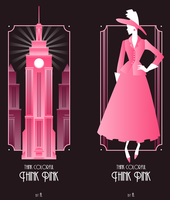 Art Deco a la Pink by Eniotna
