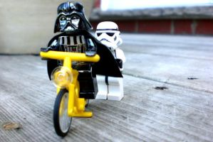 Trooper give Darth a push by nyappy-time