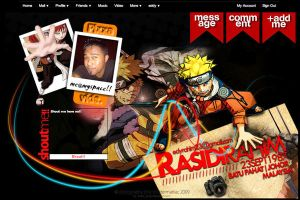 Naruto Myspace LayoutV1.0 by zxara