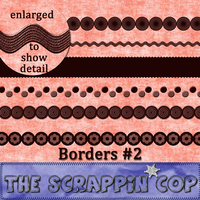 ScrappinCop Border Brushes 2 by debh945