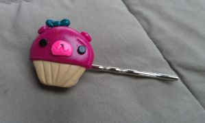 Berry Bear Cupcake Bobby Pin by Gynecology