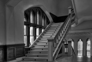 Old Post Office Stairway by Senoj