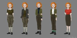 Lilian character concepts by JNathanIllustration