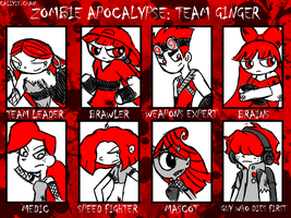 Zombie Apocalypse: Team Ginger by PrincessCallyie