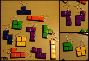 Tetris Earrings by Petra0