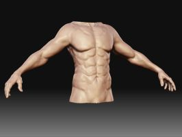 Hman Body front view by bullygamer17