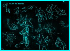 SILVER THE HEDGEHOG draw by Fission07