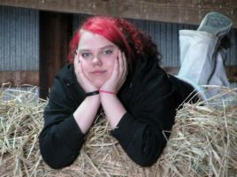 Me in the hay :) by ArtsyLibrarian