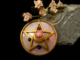 Sailor Moon Crystal Star Brooch by starlit-creations