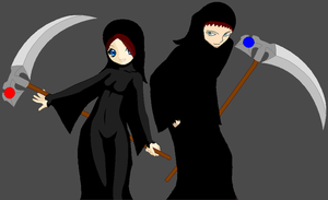 The Reaper and His Sister by Evil-Hamster-O-Doom