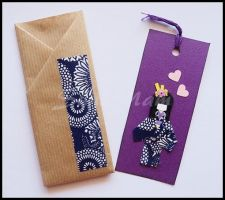 Bookmark purple by SuniMam