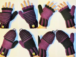 Purple and Black Gloves by coincollect408