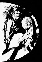 DEATH NOTE- Light and Ryuk by 821GoThIc-VAMPIRE