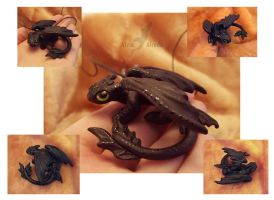 Toothless necklace - other shots by AlviaAlcedo