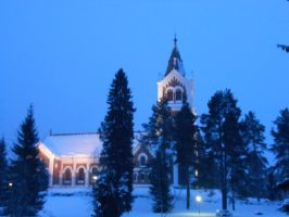 Lumijoki Church by Miimi90