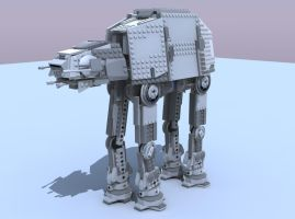 Lego AT-AT by darthsjaak