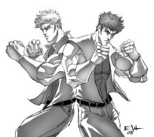Double Dragon sketch by ErikVonLehmann