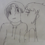 Surprise Kiss Beotches-Drawing by Bubble-Gum-Kitty