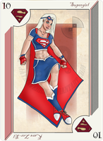Playing Card Supergirl by JayMaverick