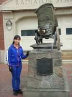 I'm standing next to Stanley's statue by Magic-Kristina-KW