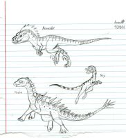 Three Dinos by Dinoboy134