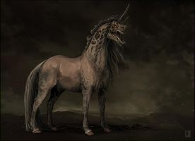 Stone Unicorn by Pakoune