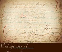 Vintage Script PS Brushes by AsunderDigital