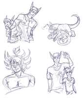 Sketches: Two MTTs and a Cannibal's Soul by RedtheGamr