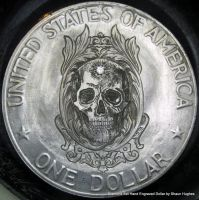Diamond Set Hand Engraved Dollar by Shaun Hughes by shaun750