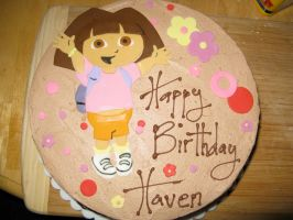 Dora the Explorer cake-top by Sumrlove