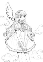 TOMOYO Lineart by Heroika
