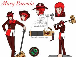 RWBY OC: Mary Paeonia by PencilManners