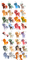 32 Pony Adopts [OPEN] by Pikadopts