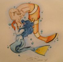 FN-Dory and Marlin kissing by BenjiLion09