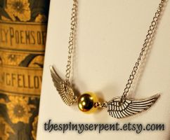Flying Snitch Necklace by kittykat01