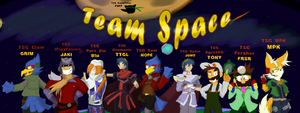 Super Smash Bros Melee: Team Space by Dapuffster