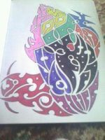 Polynesian multi-coloured drawing by gbftattoos