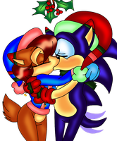 Mistletoe kiss by jayfoxfire