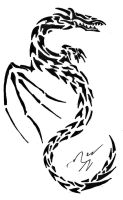 Dragon Tattoo Design by Inkletter