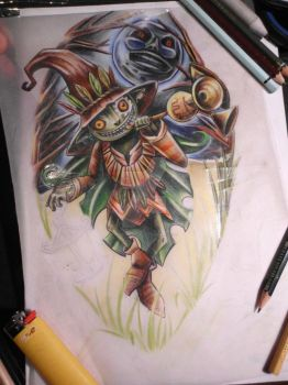 horror kid   in progress by TATTOO-N3RD
