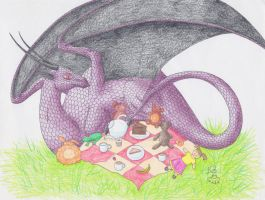 Teddybear picnic by Scellanis