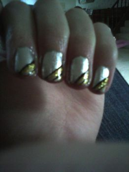 Black, Gold and, Silver Nails by TheNailFile