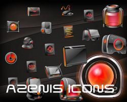 Azenis Orange Icons by Jameshardy88