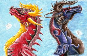 Angelus And Angelyn (new version)- Above destiny by DrakenAngelus2
