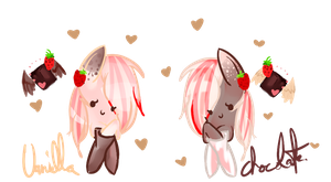 Chocolate and Vanilla!! @gift for my friend@ by vanilla-button
