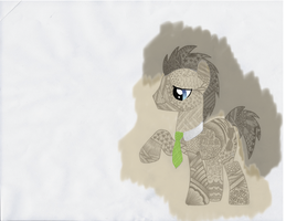 Doctor Whooves Doodle Pony by TimelordCupcake